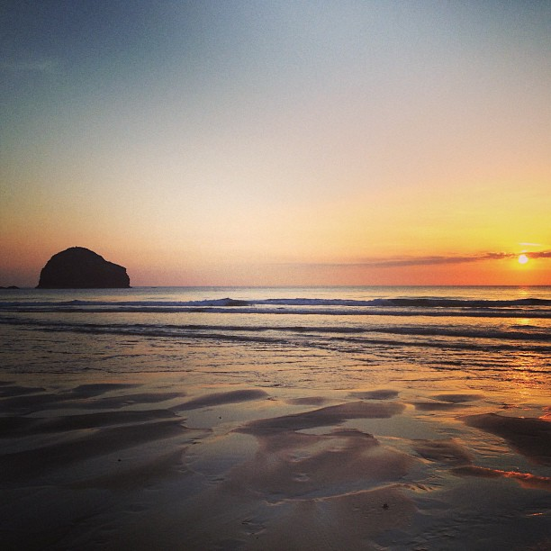 Sunset at Trebarwith