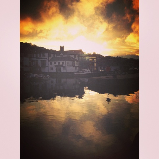 Firey sunset at Falmouth Harbour