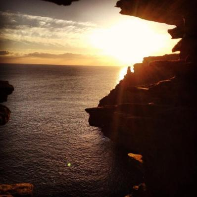 Sunset at Tintagel Castle