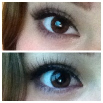 The false lashes give a sultry and defined edge to my eyes