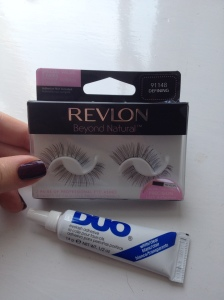 Revlon's Beyond Natural lashes and Duo lash glue
