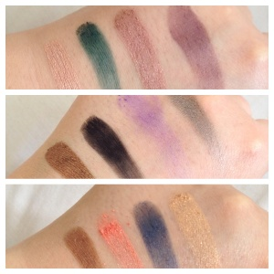 Swatched in order from left to right.